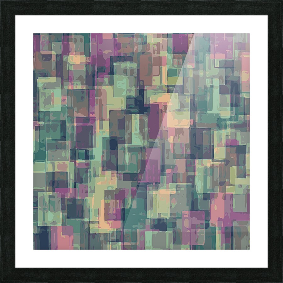 Psychedelic geometric square pattern abstract in pink and green psychedelic geometric square pattern abstract in pink and green picture frame printing jeuxipadfo Images