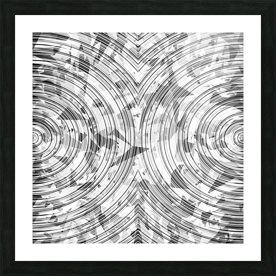 Psychedelic geometric circle pattern abstract background in black psychedelic geometric circle pattern abstract background in black and white picture frame printing jeuxipadfo Gallery