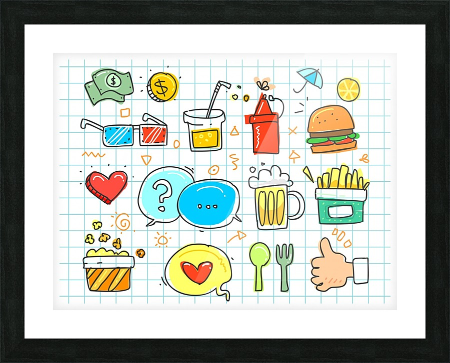 Colorful Doodle Stock Photography Canvas
