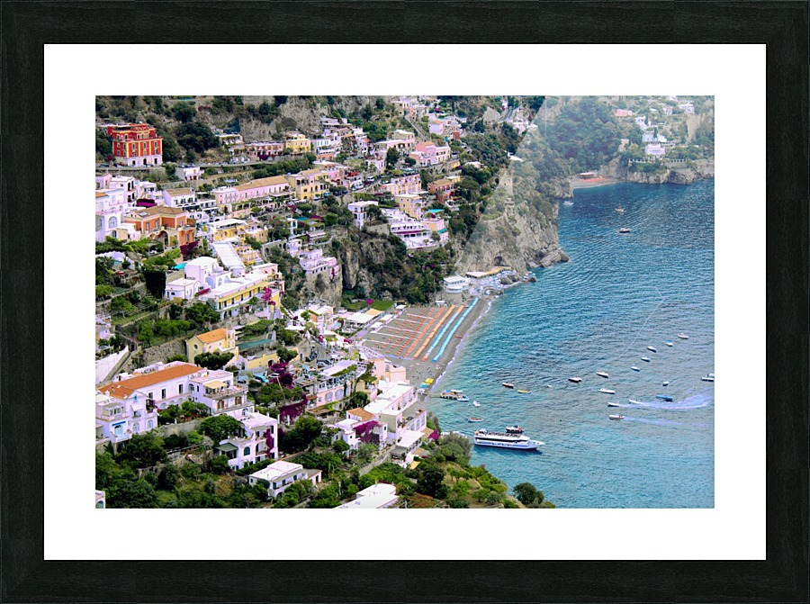 Aerial View Of Positano Beach Italy Alessandro Ricardo
