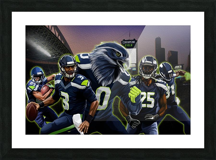 SEAHAWKS Football - Football Art Canvas