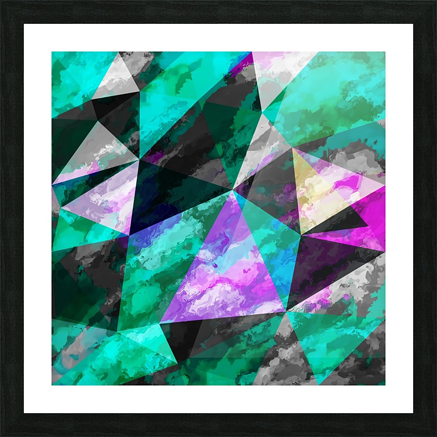 Psychedelic geometric triangle pattern abstract with painting psychedelic geometric triangle pattern abstract with painting abstract background pink and green picture frame printing jeuxipadfo Images