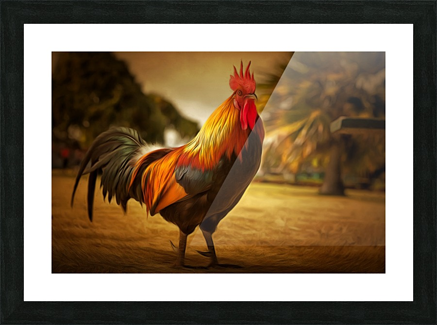 Rooster Gold Illuminary Artworks Canvas