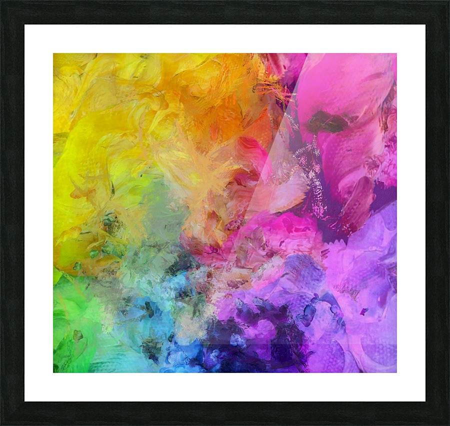 Bright Colorful Abstract Painting Picture Frame Printing