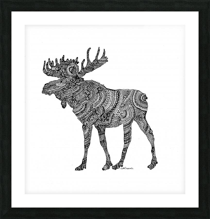 Doodling Moose - JaneLucasArt Canvas
