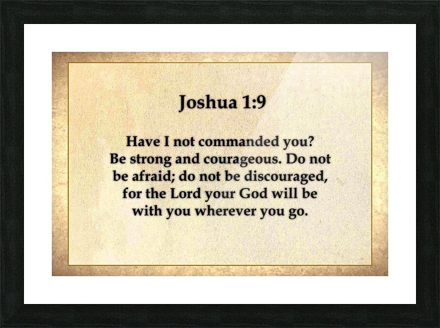 Joshua 1 9 - Espirit Images Canvas