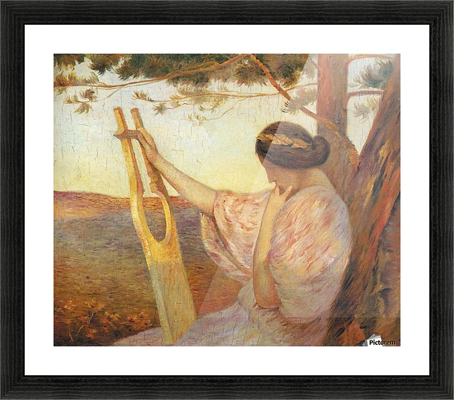 Orpheus Playing the Lyre - Henri Martin Canvas