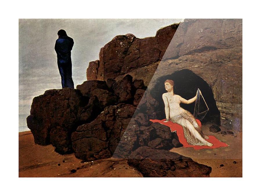 Odysseus And Calypso By Arnold Bocklin Arnold Bocklin Canvas