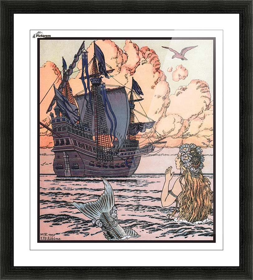 The Little Mermaid Ivan Bilibin Canvas