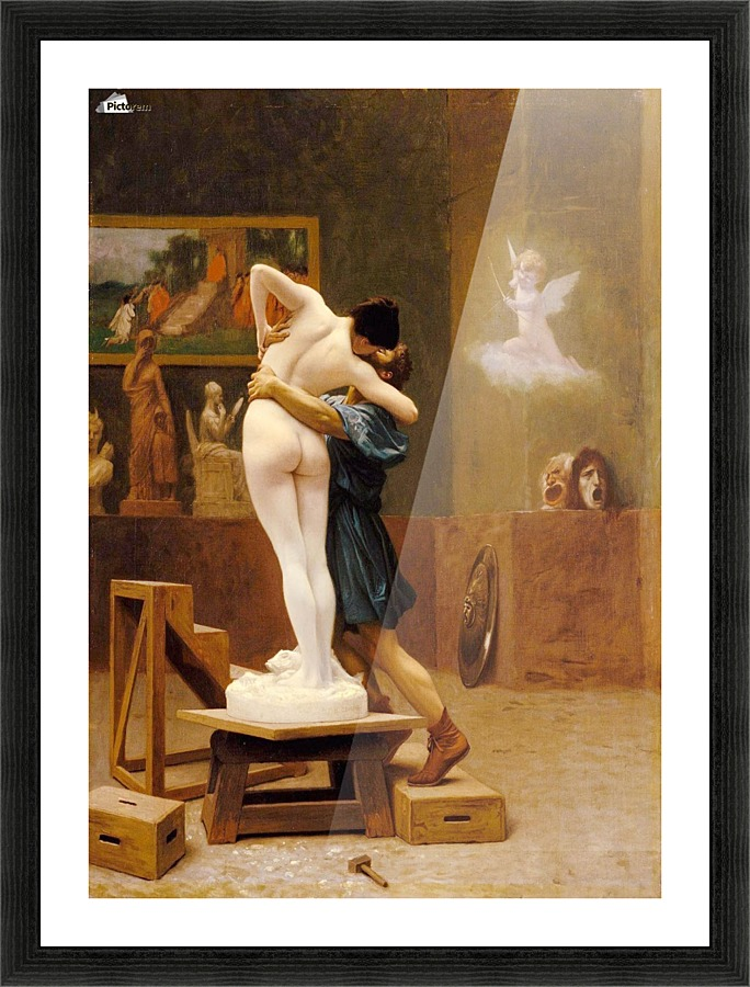 Pygmalion And Galatea In Love Picture Frame Printing