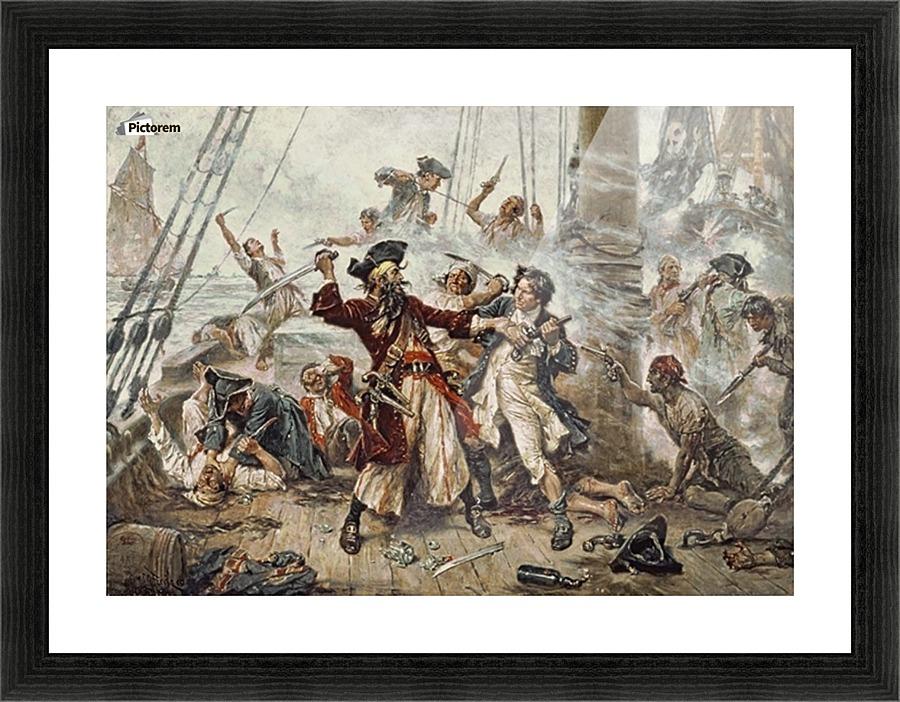 Capture Of The Pirate Jean Leon Gerome Canvas