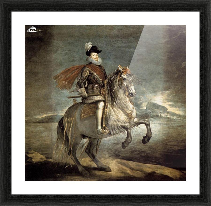 Equestrian portrait of philip iii diego velazquez canvas equestrian portrait of philip iii picture frame printing jeuxipadfo Gallery
