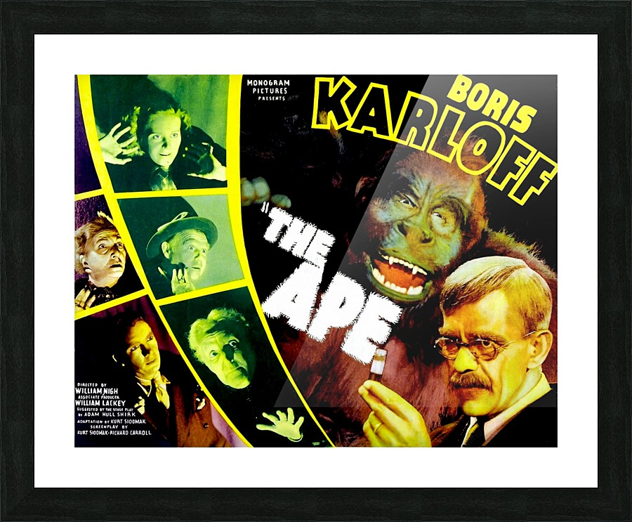 Boris Karloff Horror movie poster print 4 The Ape 1940
