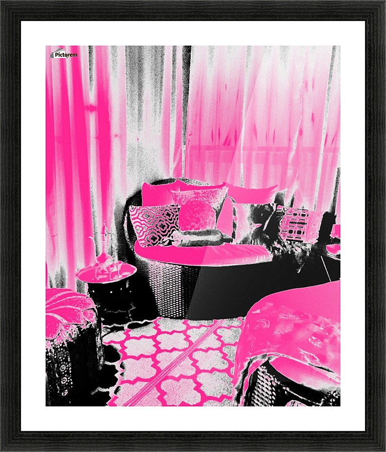 Moroccan Porch in Hot Pink - Jayne Somogy Canvas