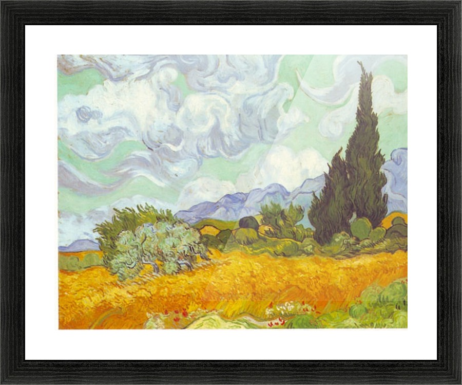 Cornfield With Cyprusses By Van Gogh Van Gogh Canvas
