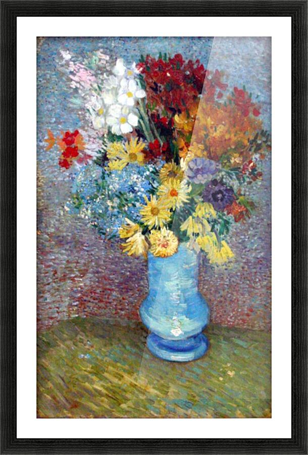 Flowers In A Blue Vase By Van Gogh Van Gogh Canvas