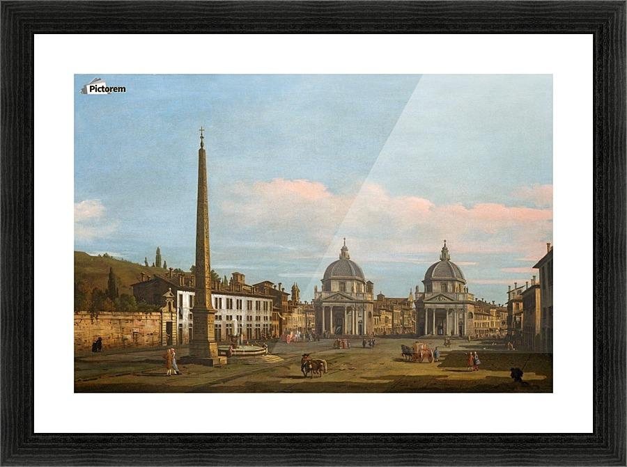 The Piazza Del Popolo Rome Bernardo Bellotto Canvas