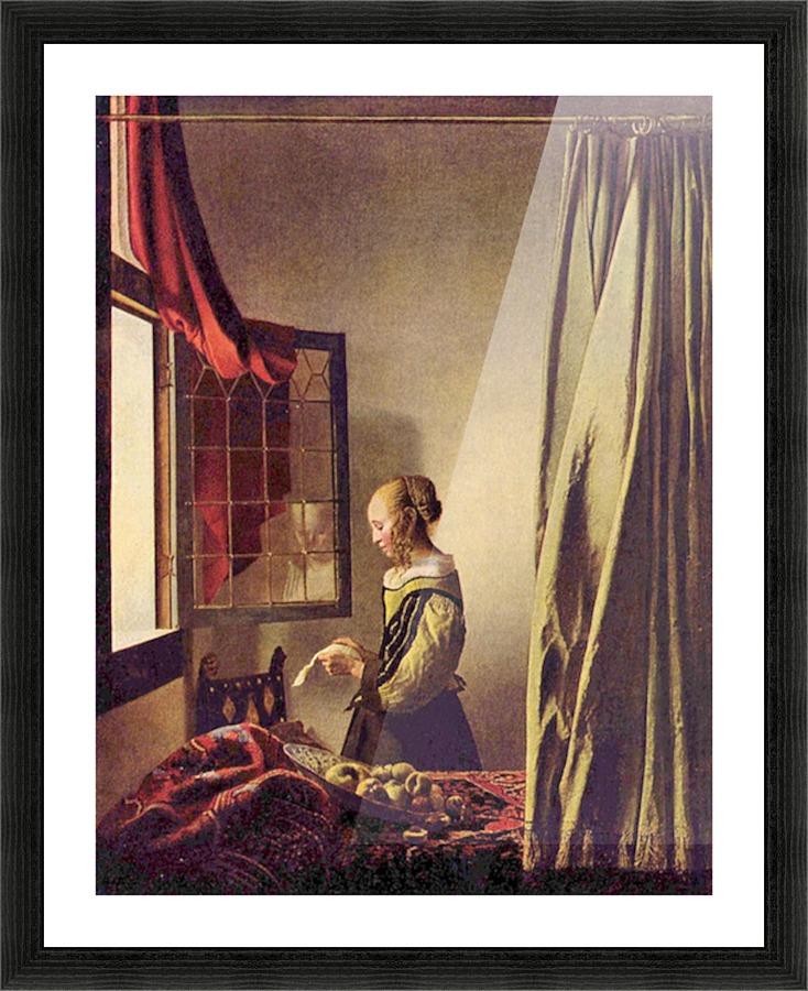 girls at the open window by vermeer vermeer canvas