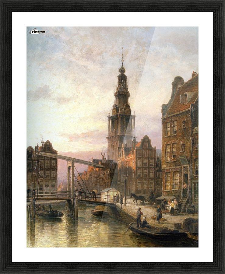 The Zuider Kerk at Dusk, Amsterdam - Cornelis Christiaan ...
