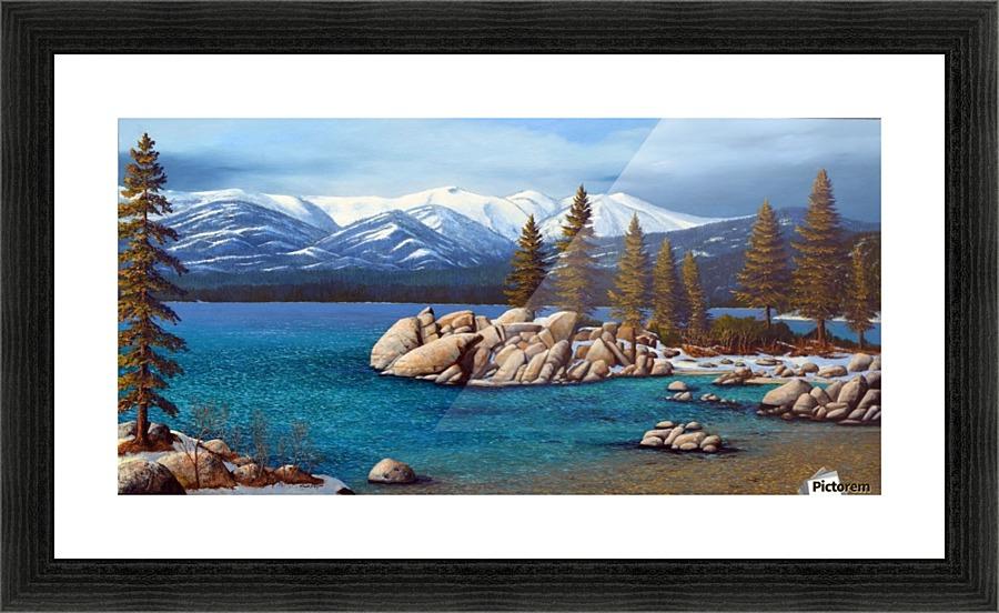 Winter At Sand Harbor Lake Tahoe - Frank Wilson Canvas