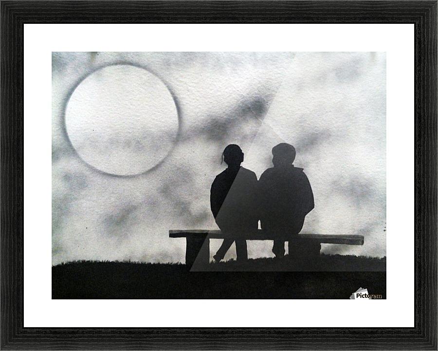 Couple sitting on bench - Varun Tandon Canvas