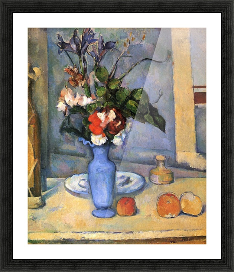 Still Life With Blue Vase By Cezanne Cezanne Canvas