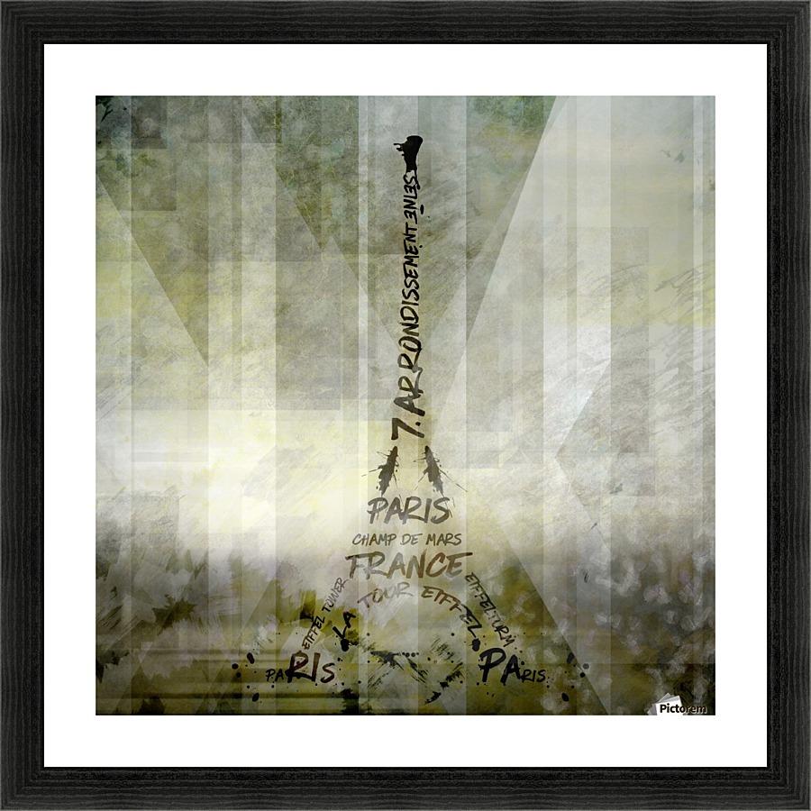 Digital art paris eiffel tower geometric mix no1 melanie digital art paris eiffel tower geometric mix no1 picture frame printing jeuxipadfo Images