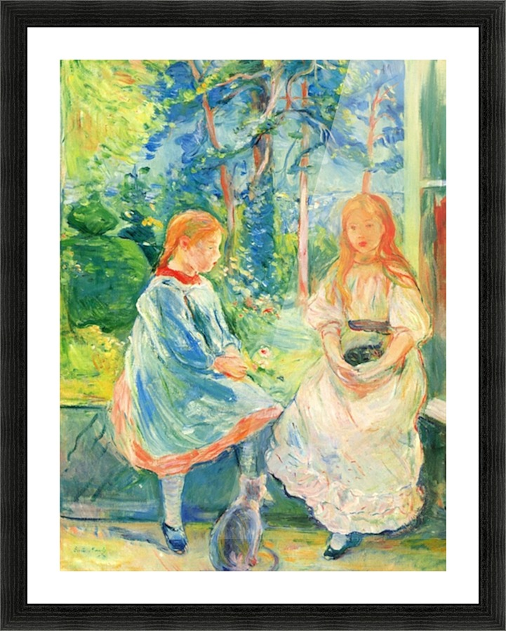 Two Girls By The Window By Morisot Morisot Canvas
