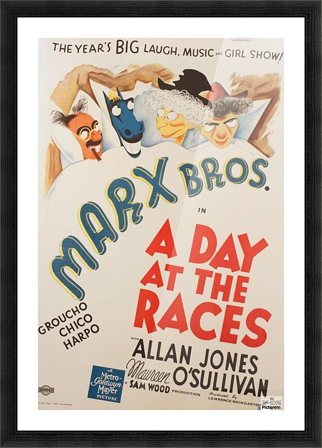 Marx Bros Brothers A Day at the Races Classic movie poster vintage ...