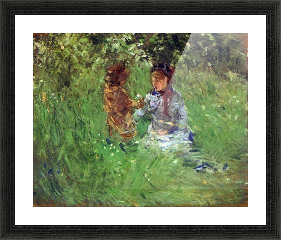 Woman And Child In Garden In Bougival By Morisot Morisot