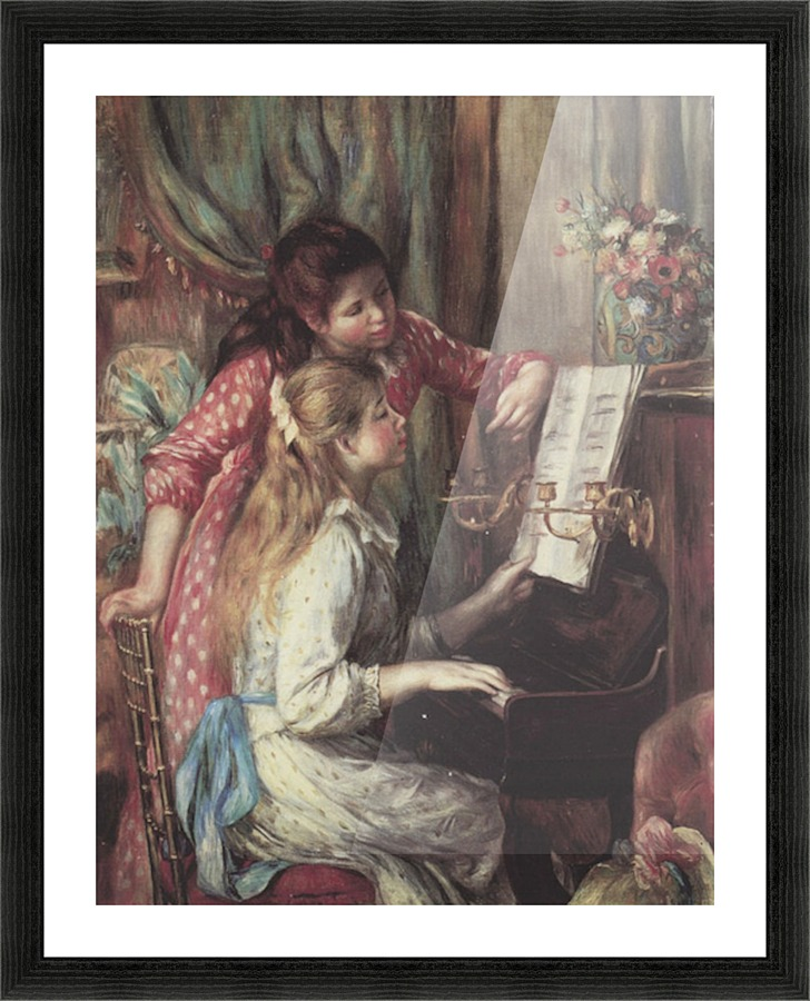 Young Girls At The Piano 2 By Renoir Renoir Canvas