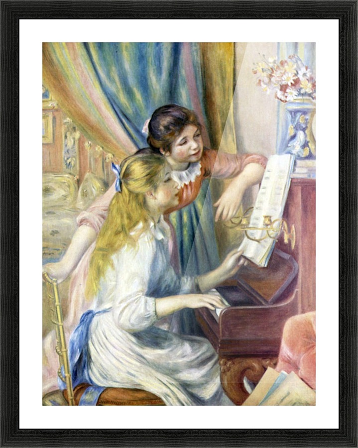 Young Girls At The Piano 3 By Renoir Renoir Canvas