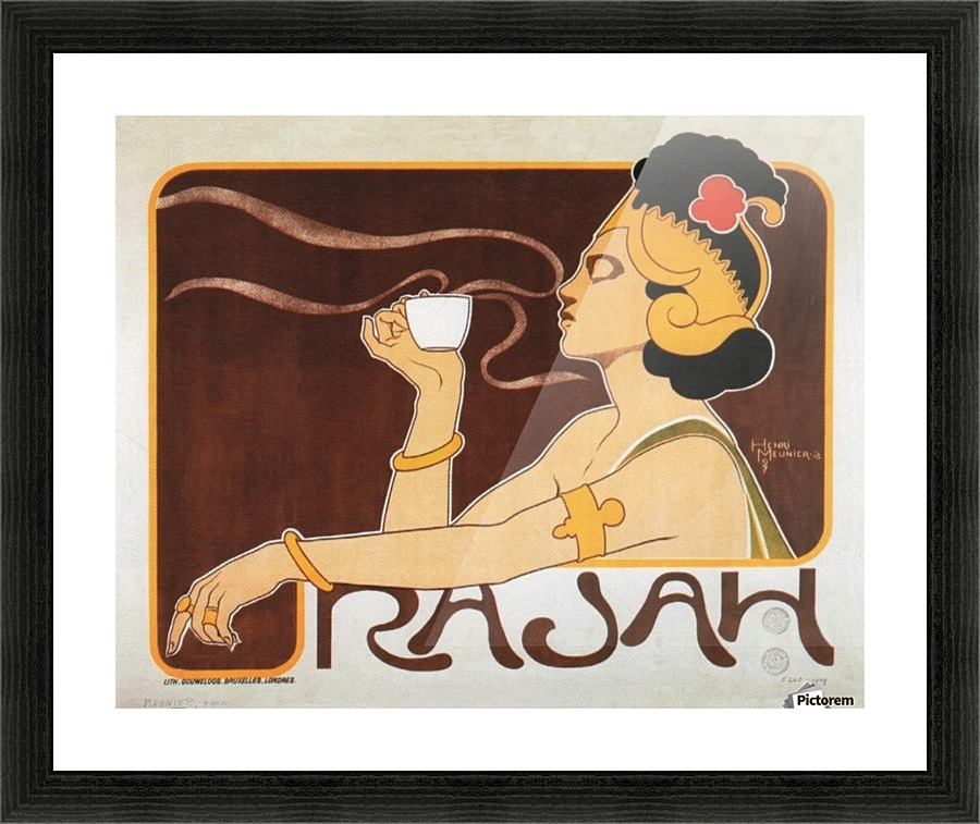 Rajah Coffee Belgian Art Nouveau Vintage Advertising Poster Henri ...