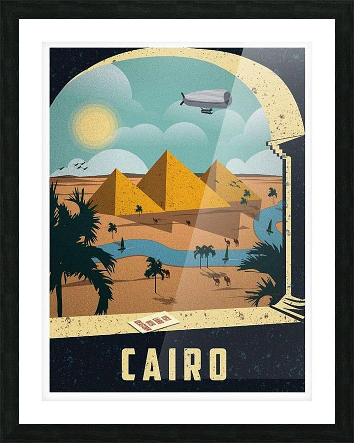 Cairo Vintage Travel Poster - VINTAGE POSTER Canvas