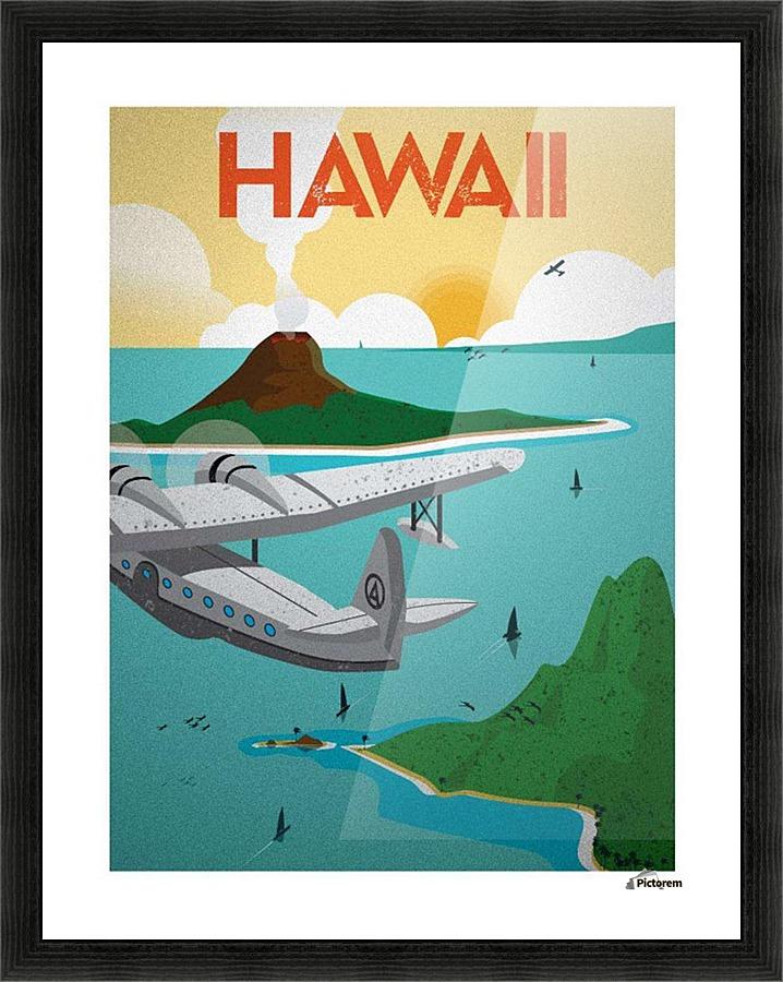 Hawaii Vintage Travel Poster Vintage Poster Canvas