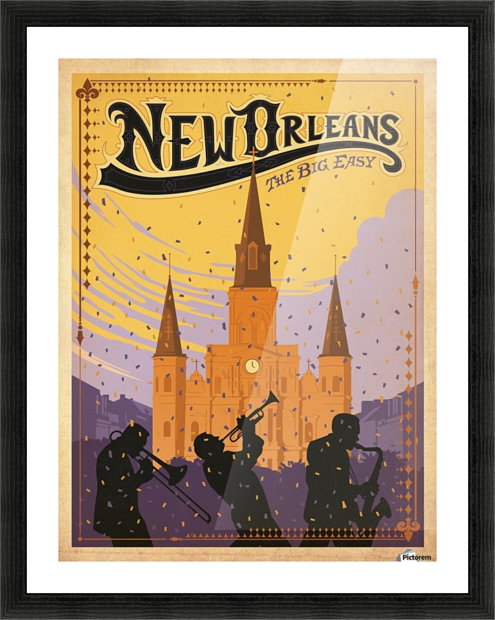 New Orleans American travel poster - VINTAGE POSTER Canvas