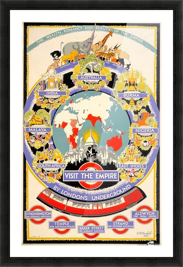 Vintage Poster Of British Empire Transport Vintage