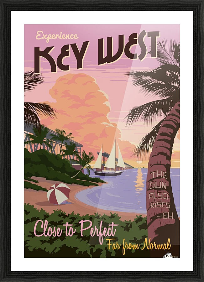 Lovely Experience Key West Close To Perfect Travel Poster Picture Frame Printing
