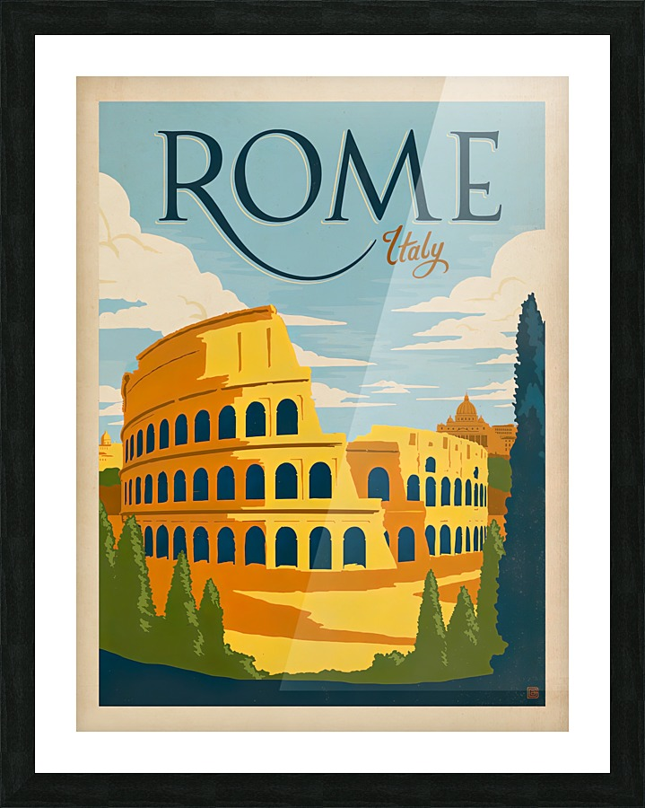 Rome Italy Vintage Poster Vintage Poster Canvas
