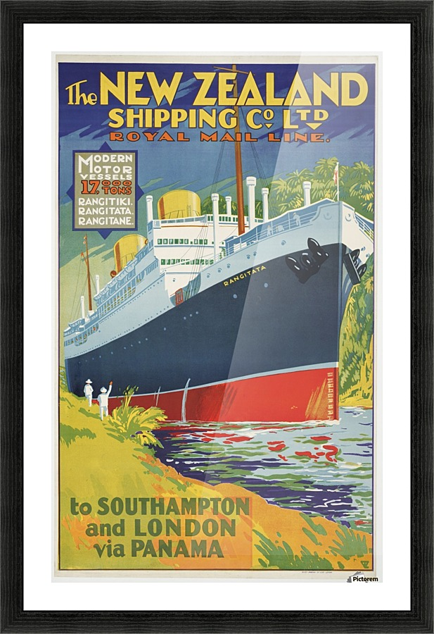 The New Zealand Shipping Company Limited vintage poster
