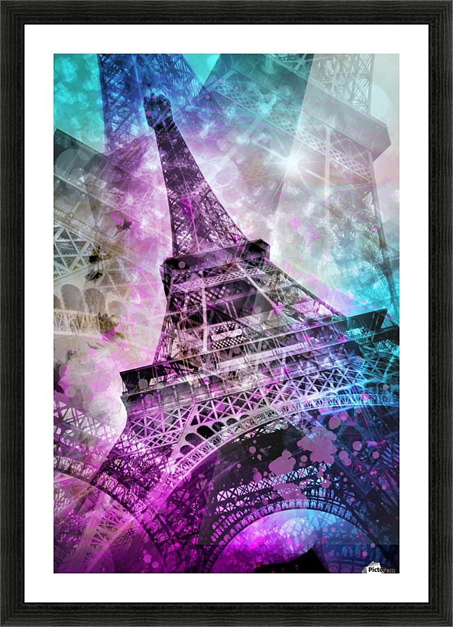 pop art eiffel tower melanie viola toile. Black Bedroom Furniture Sets. Home Design Ideas