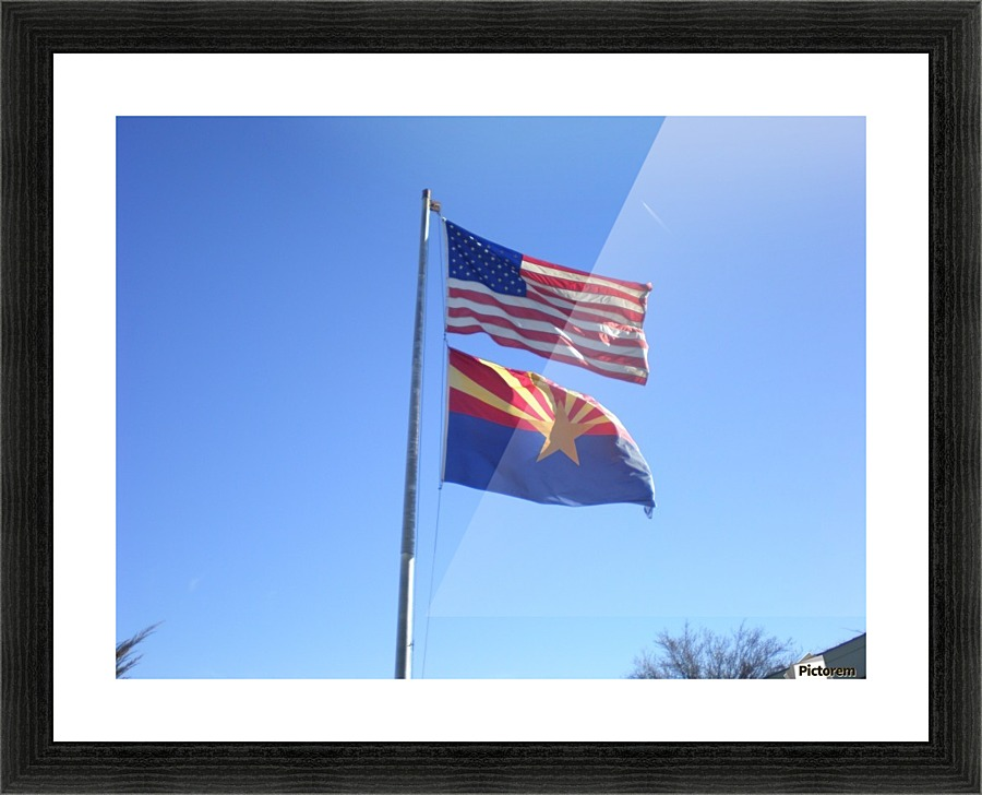 US and Arizona Flag - Debbie-s Photo Korner Canvas