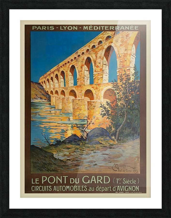 Le Pont Du Gard Original Vintage Poster Vintage Poster
