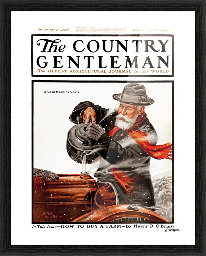 Cover Of Country Gentleman Agricultural Magazine From The Early 20th