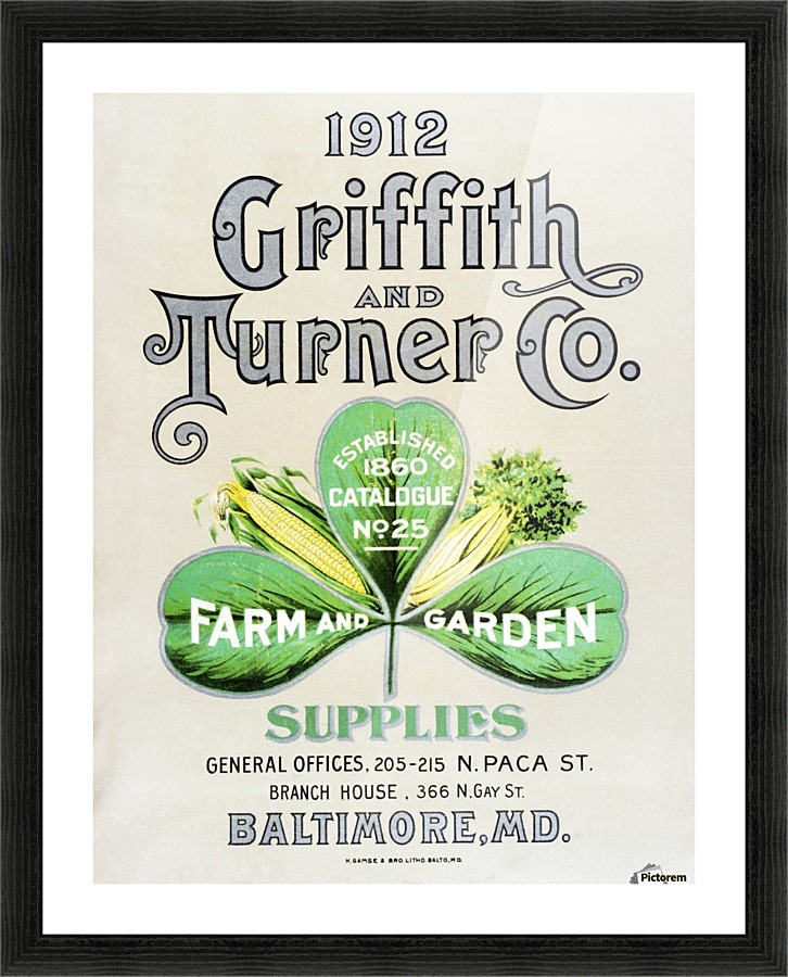 Historic Griffith and Turner Co. farm and garden supply catalog from ...