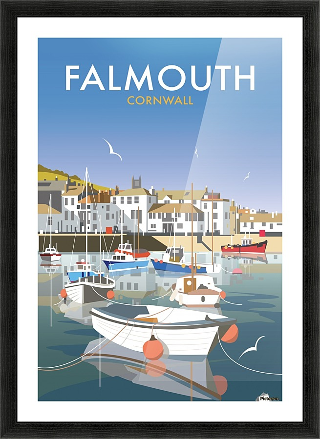 Falmouth Cornwall Vintage Travel Poster Vintage Poster