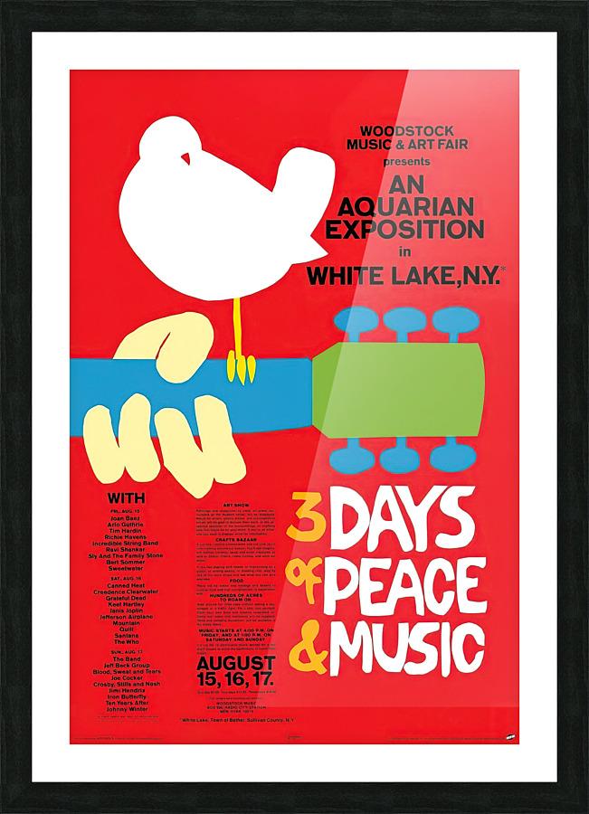 Original Woodstock Poster In 1969 Vintage Poster Canvas