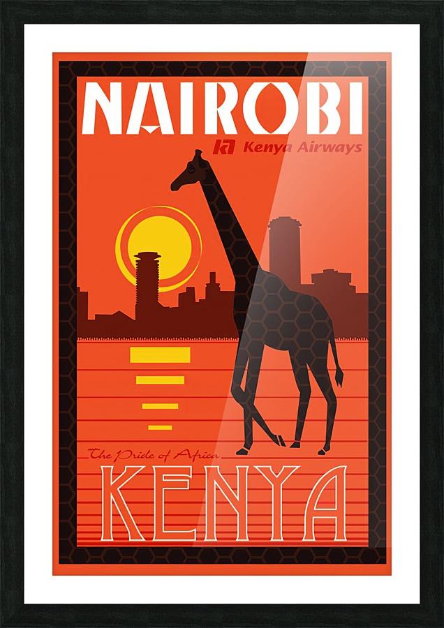 Nairobi The Pride Of Africa Kenya Airways Travel Poster