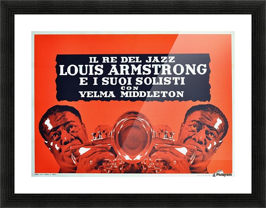 Jazz Poster Louis Armstrong Modernist Design Milan Italy Concert ...