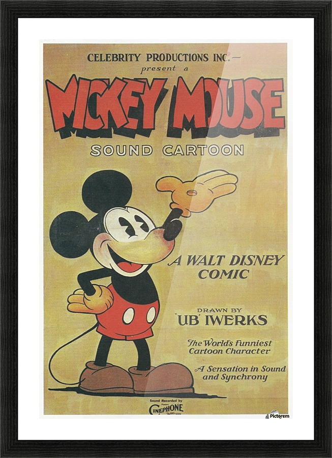 Mickey Mouse Sound Cartoon - VINTAGE POSTER Canvas
